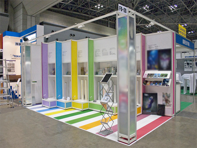 第1回高機能フルム技術展 2010 東京ビッグサイト / 小間(6M×3M)