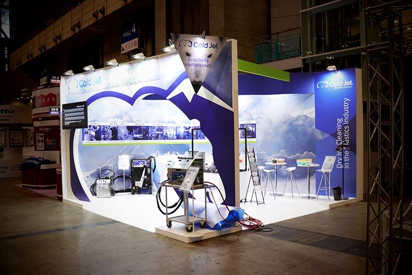 Cold Jet Technologies展示会・イベントブース装飾画像