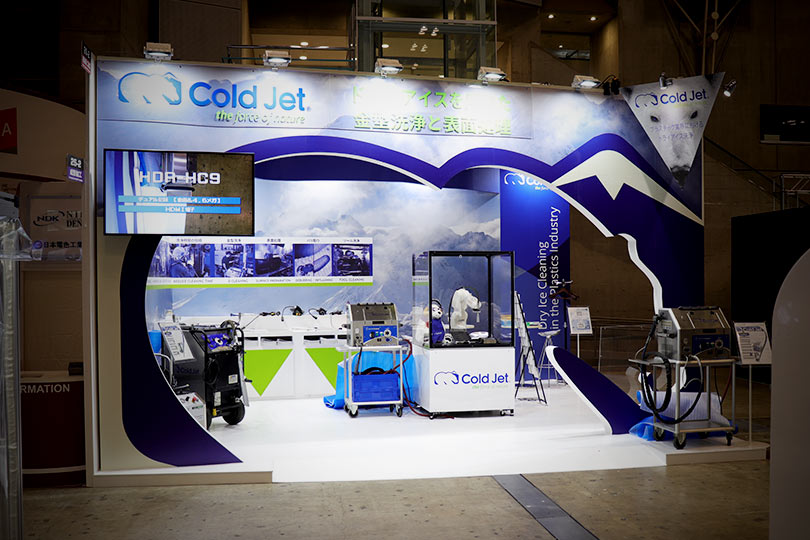 Cold Jet Technologies展示会・イベントブース装飾のこだわり