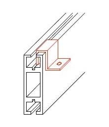 システム部材オクタノルム(Octanorm)のパーツSフック
