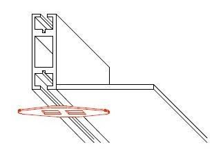 システム部材オクタノルム(Octanorm)のパーツバタフライフック