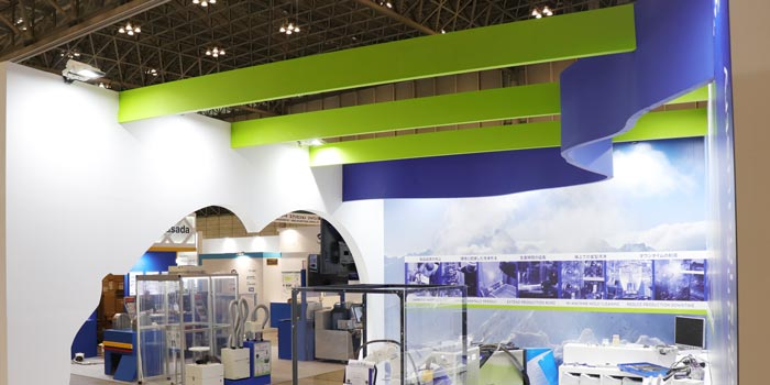 Cold Jet展示会ブース装飾天井