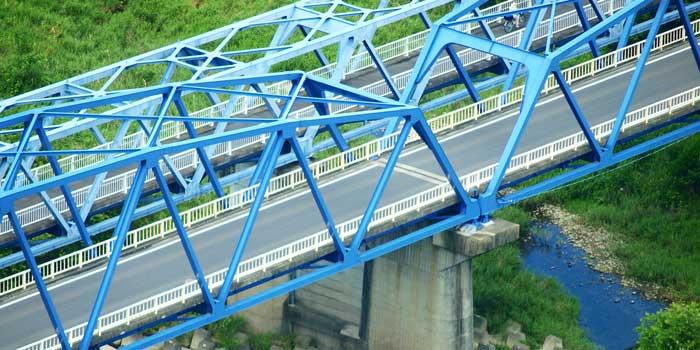 トラス構造を使った橋